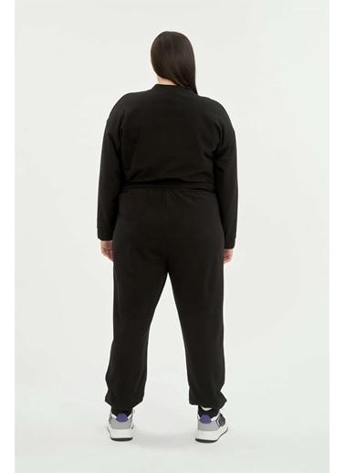 Luokk Katıe 1 Beli Ve Paçası Lastikli Kadın Eşofman Altı Siyah